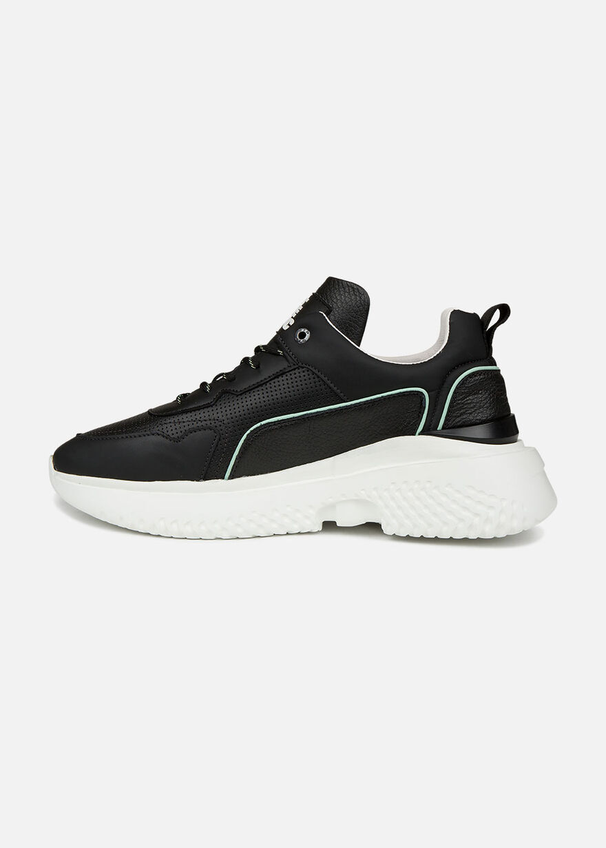 Treble Runner - White - Leather, Black, hi-res