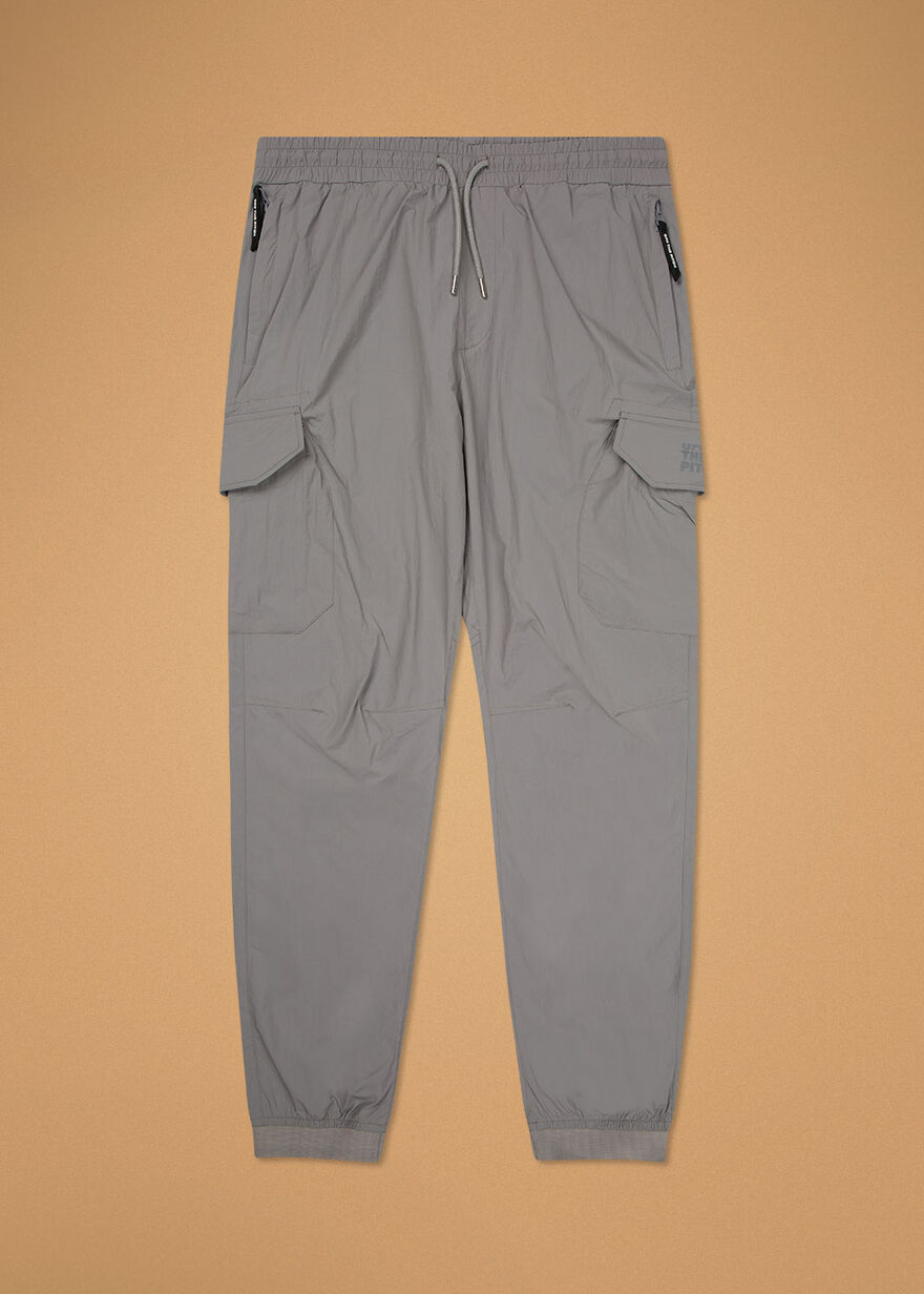 The Comet Cargo Pants - Silver Grey - 100% Polyest, Silver, hi-res