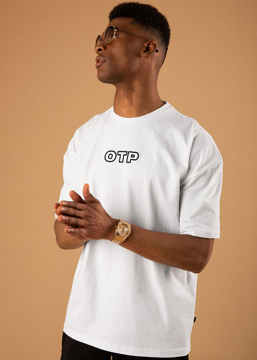 The Pitch 2.0 Oversized Tee - Black - 100% Cotton, White, hi-res