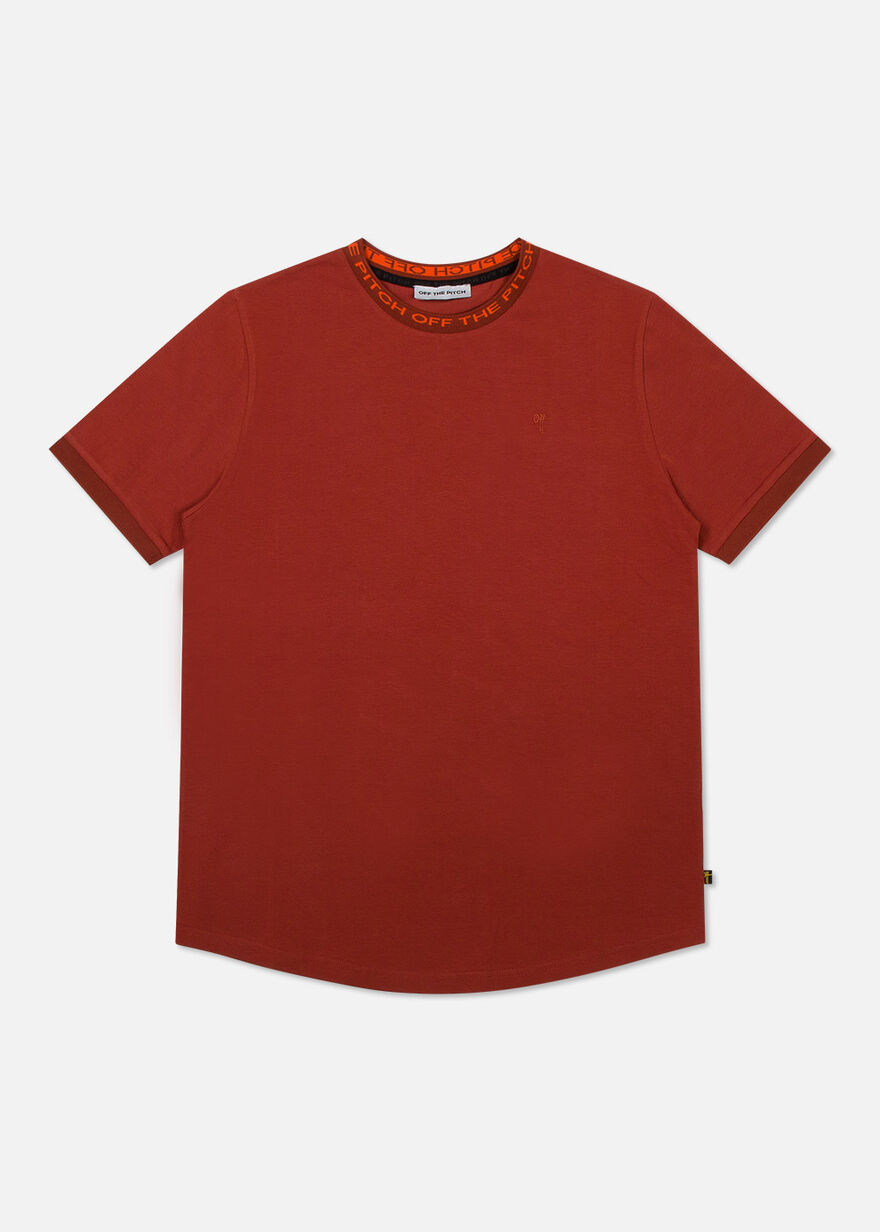 The Solar Slimfit Tee - Light Grey - 95% Cotton 5%, Red, hi-res