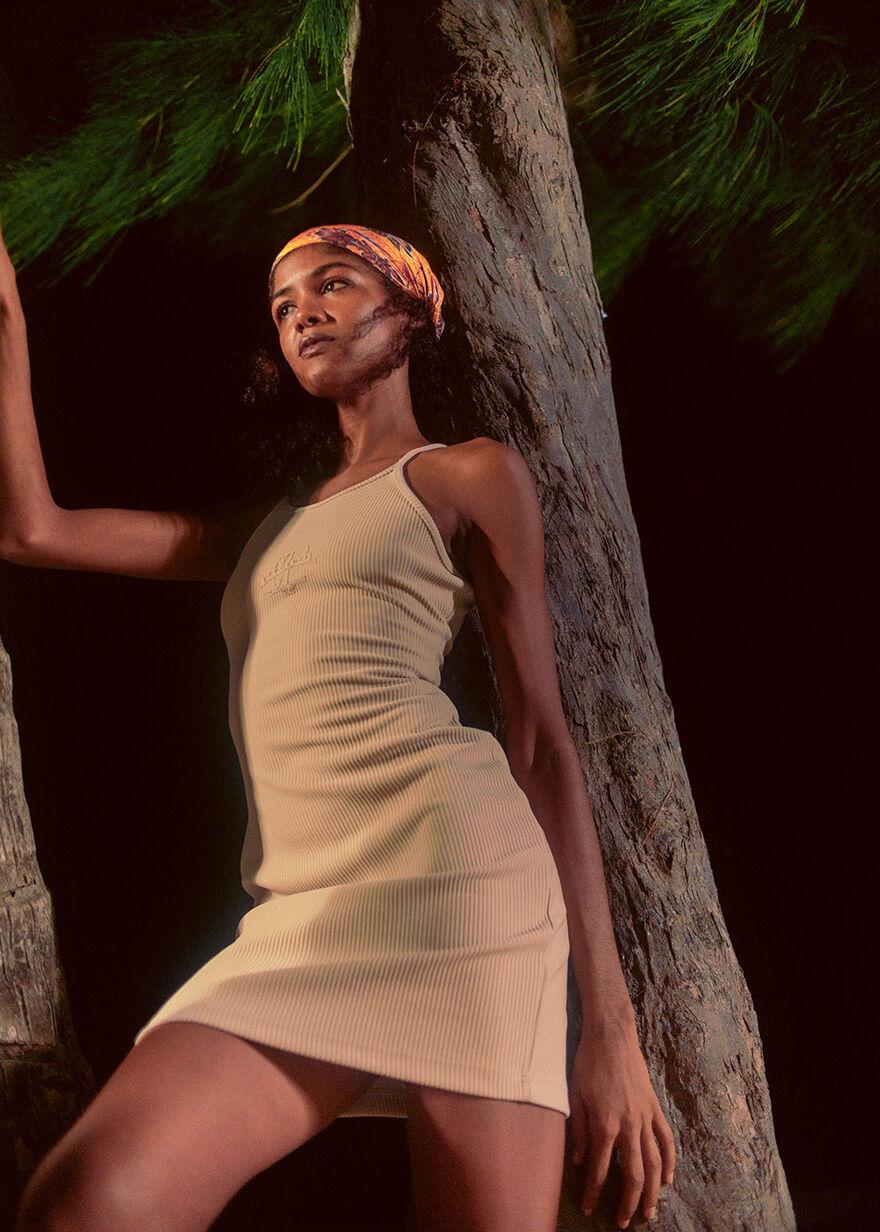 OTP BL Shoulderless Dress, Sand, hi-res
