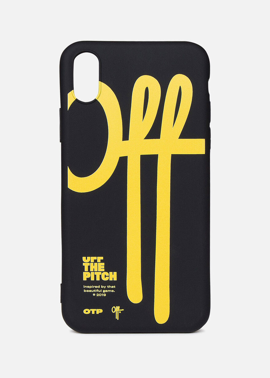 iPhone X Case, Black/Yellow, hi-res