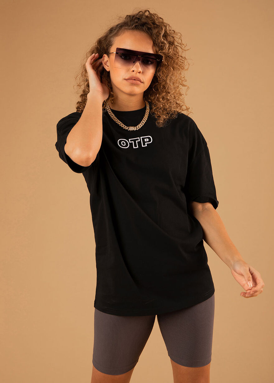 The Pitch 2.0 Oversized Tee - Black - 100% Cotton, Black, hi-res