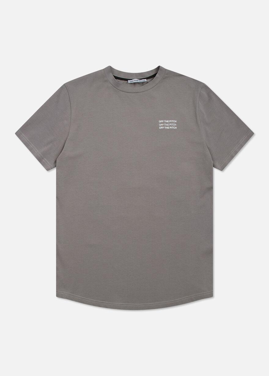 The Saturn Slimfit Tee - Black - 95% Cotton 5% Ela, Grey, hi-res