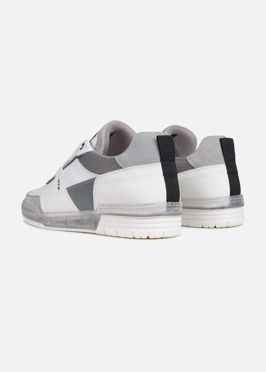 Baskette - Black - Leather, White, hi-res