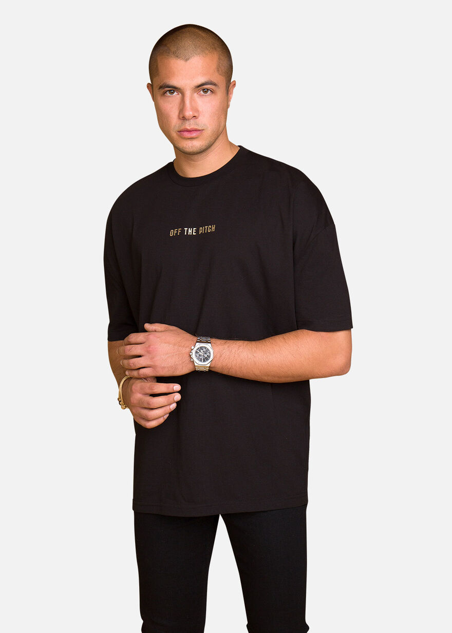 Stay Gold Tee, Black, hi-res