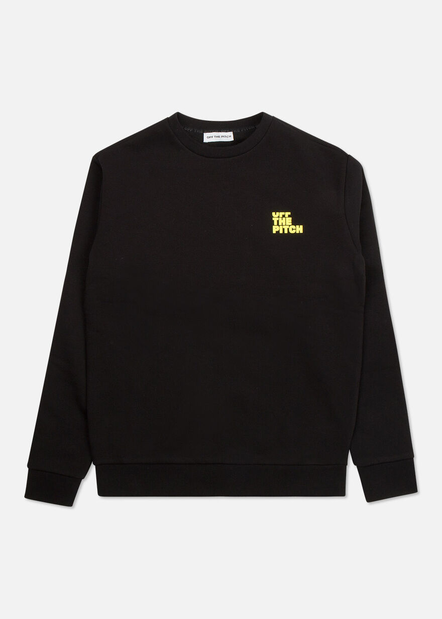 Fullstop Crew, Black/Yellow, hi-res