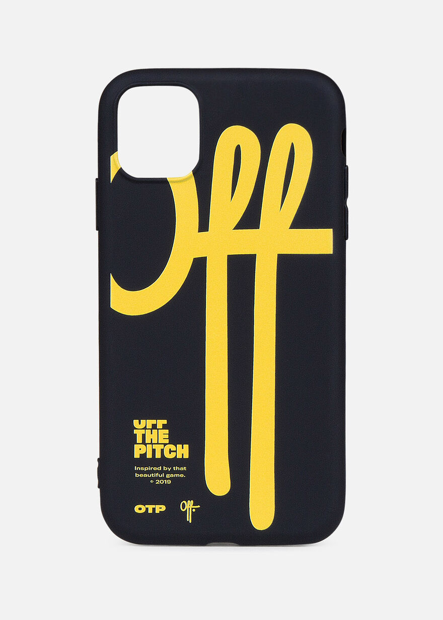 iPhone 11 Case, Black/Yellow, hi-res