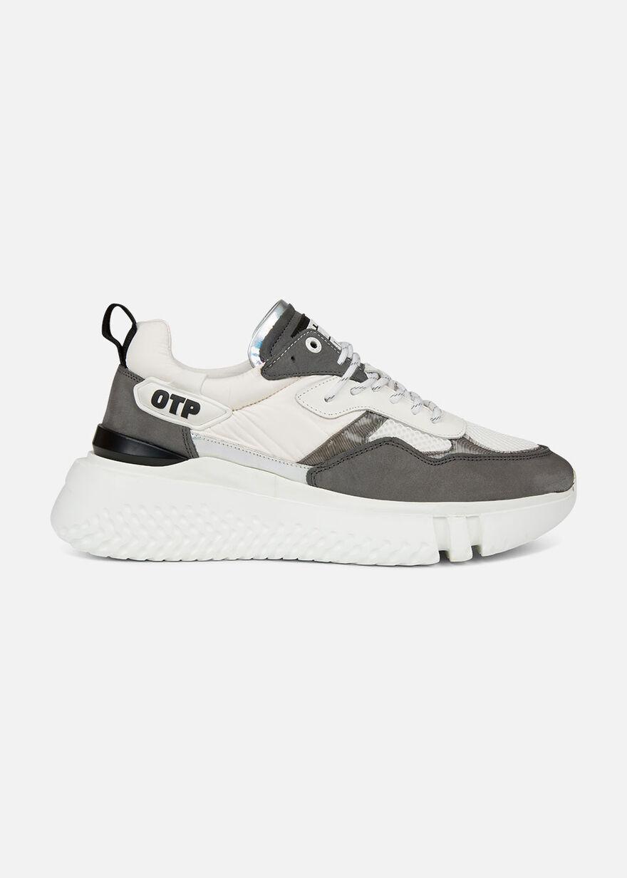 Crunch Runner 2.0 - Grey - Leather/Nylon/Mesh, White, hi-res