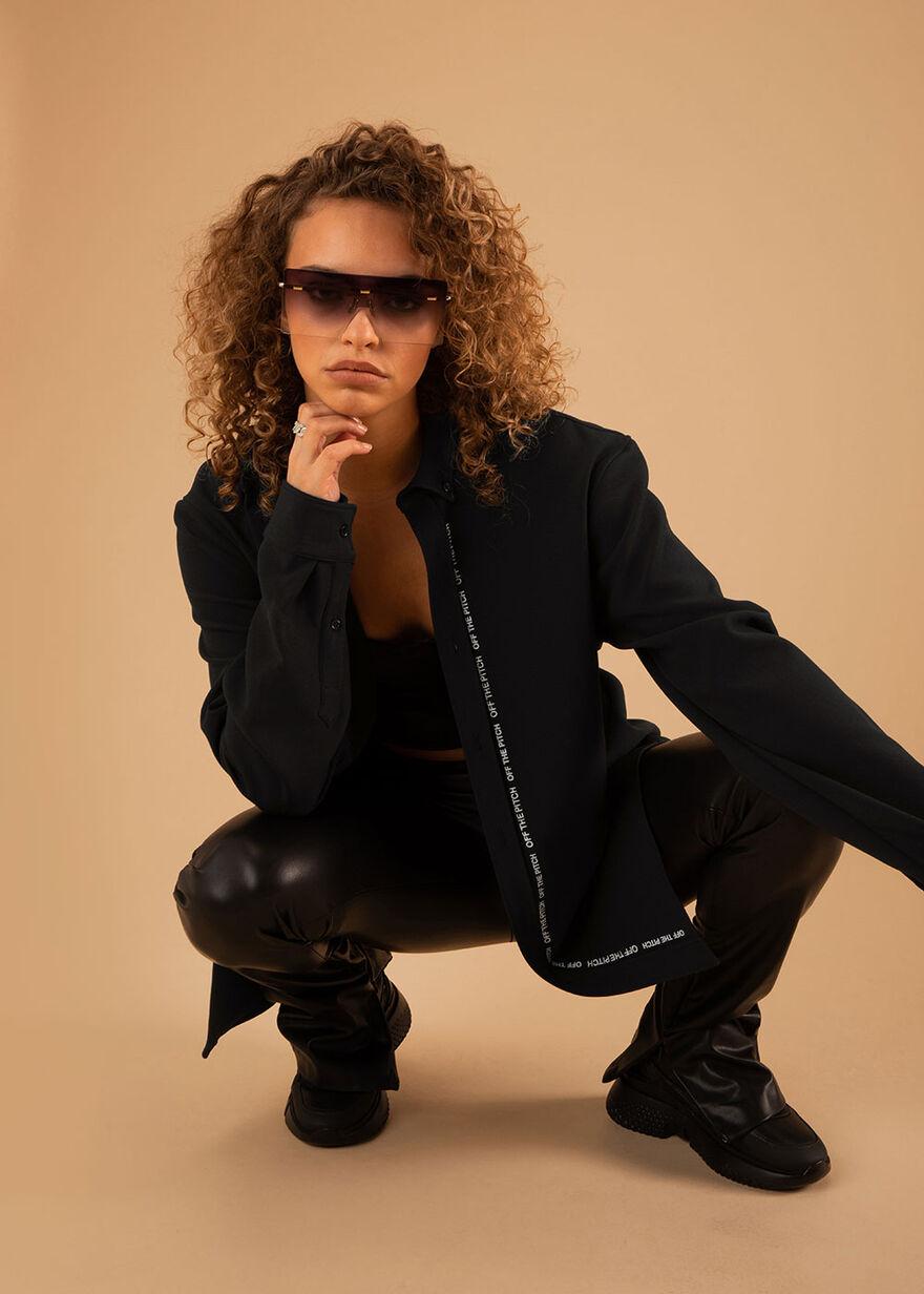 The Neptune Shirt - Black - 93% Polyester 7% Elast, Black, hi-res