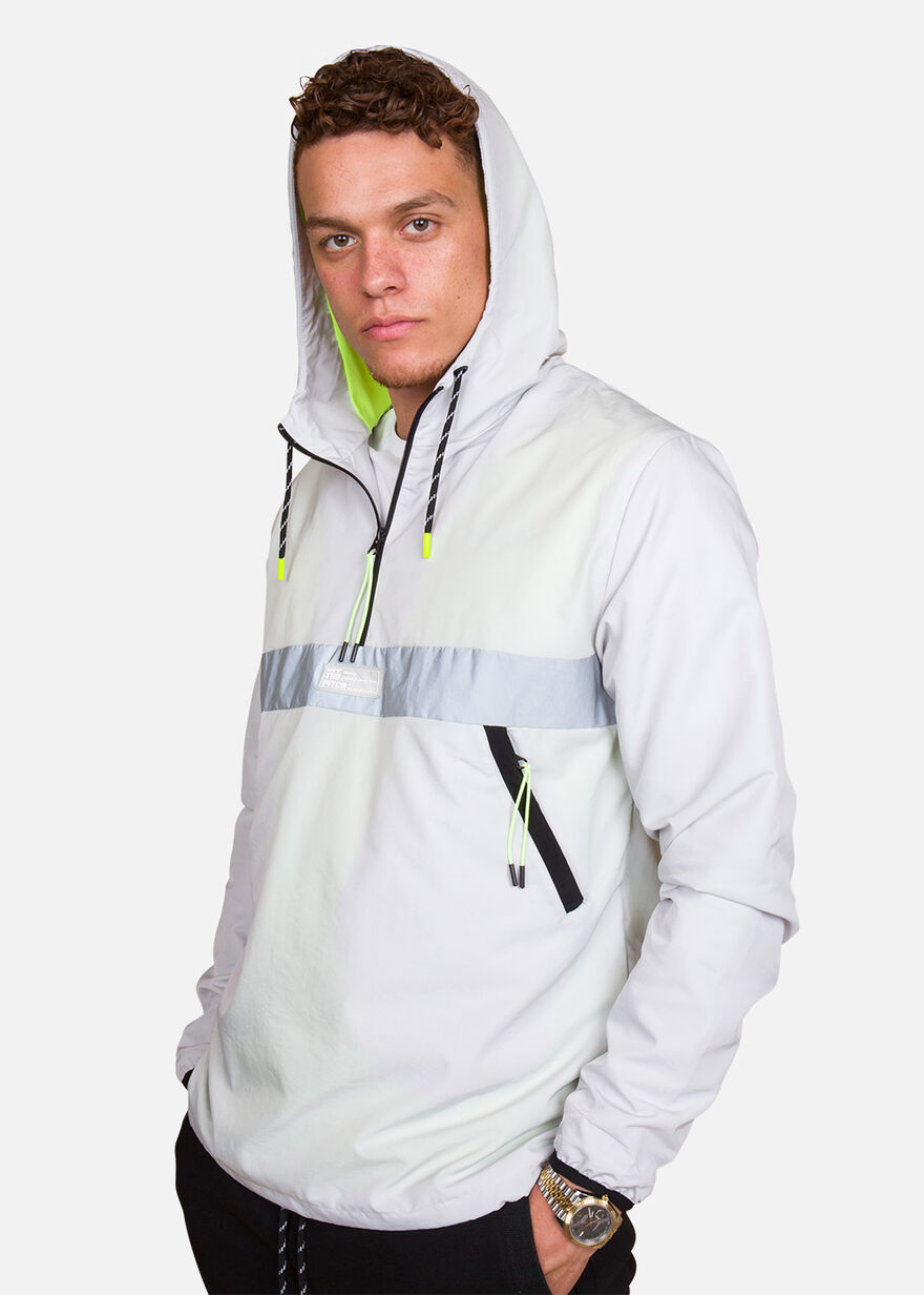 Waterproof Anorak, Grey/Black, hi-res