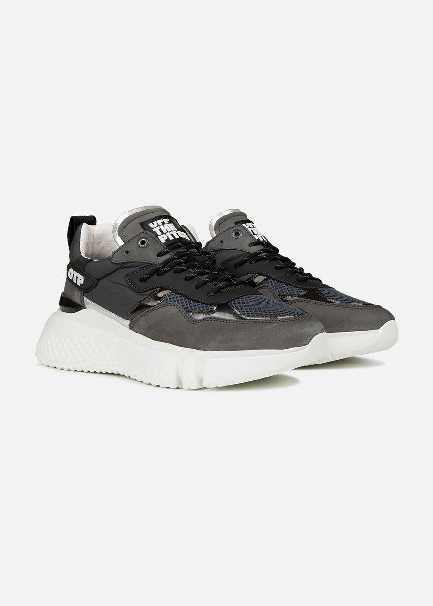 Crunch Runner 2.0 - Grey - Leather/Nylon/Mesh, Grey, hi-res