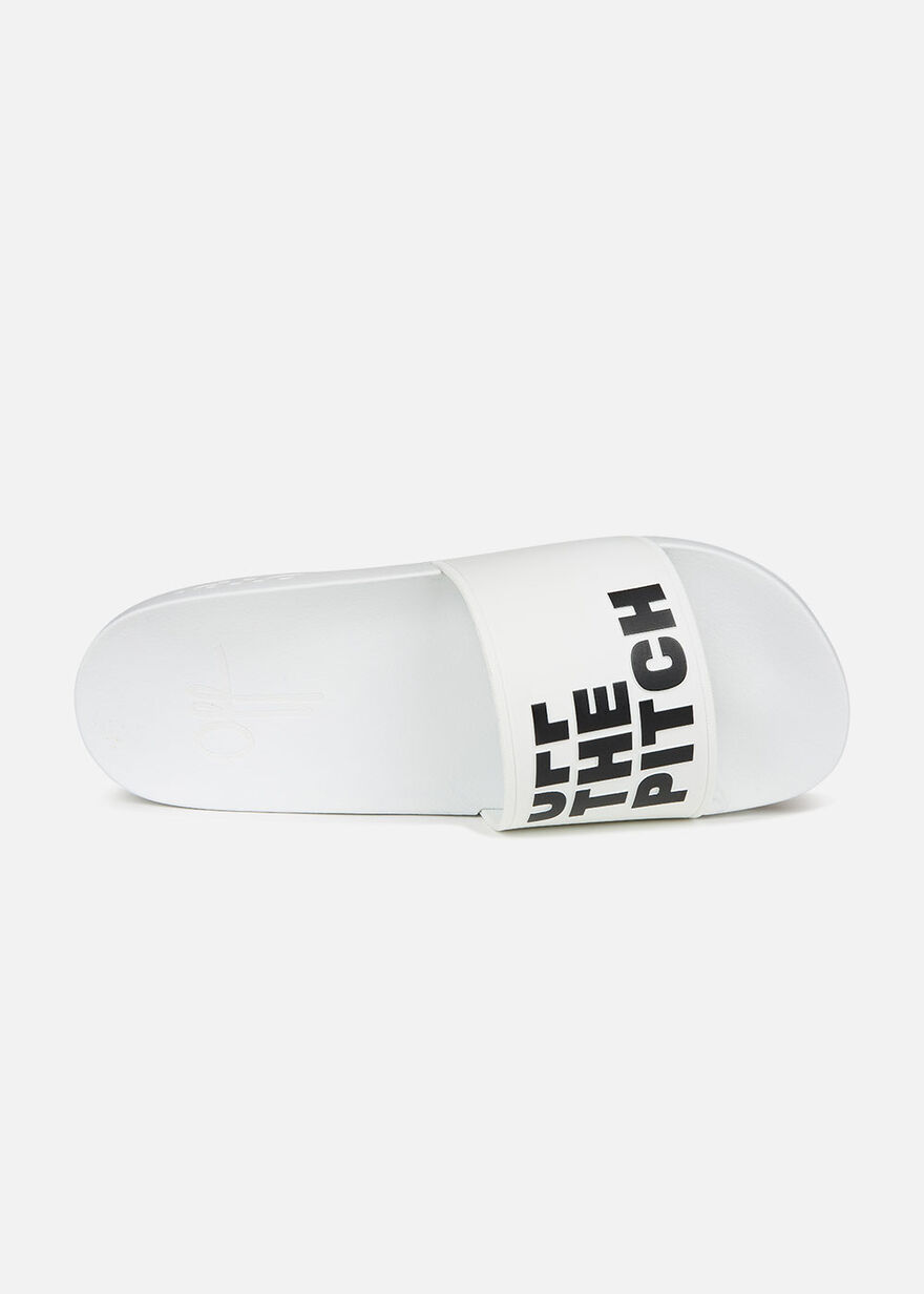 Slide Off - Khaki - Logo strap, White, hi-res
