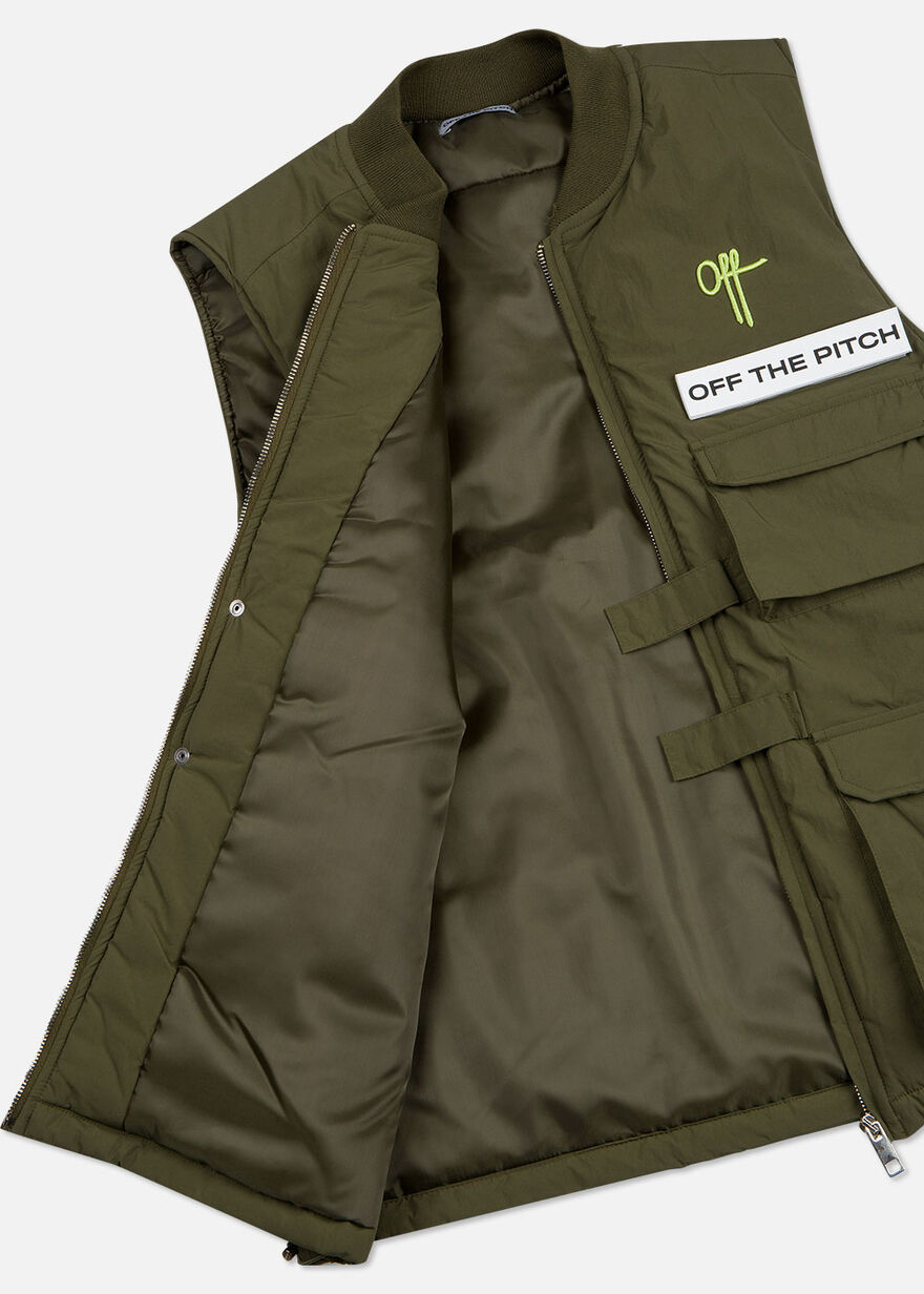 The Comet Utility Vest - Silver Grey - 100% Polyes, Green, hi-res