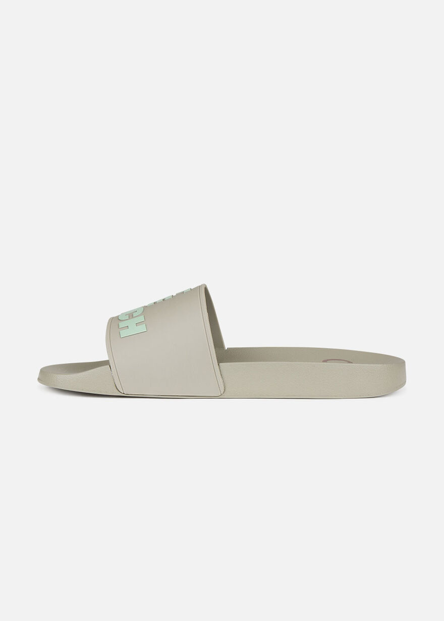 Slide Off - Khaki - Logo strap, Crème, hi-res