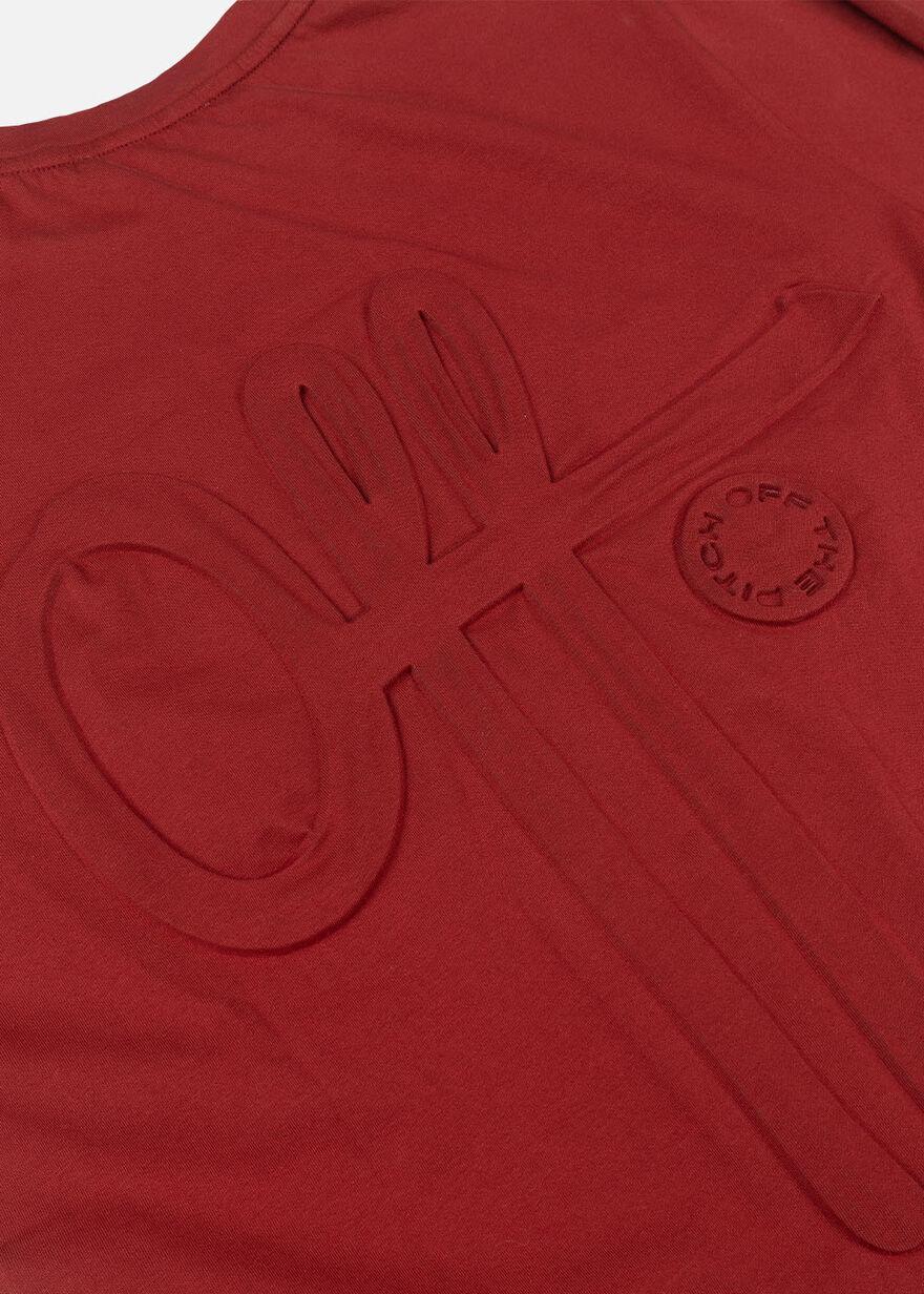 The Soul Slimfit Tee, Dark red, hi-res