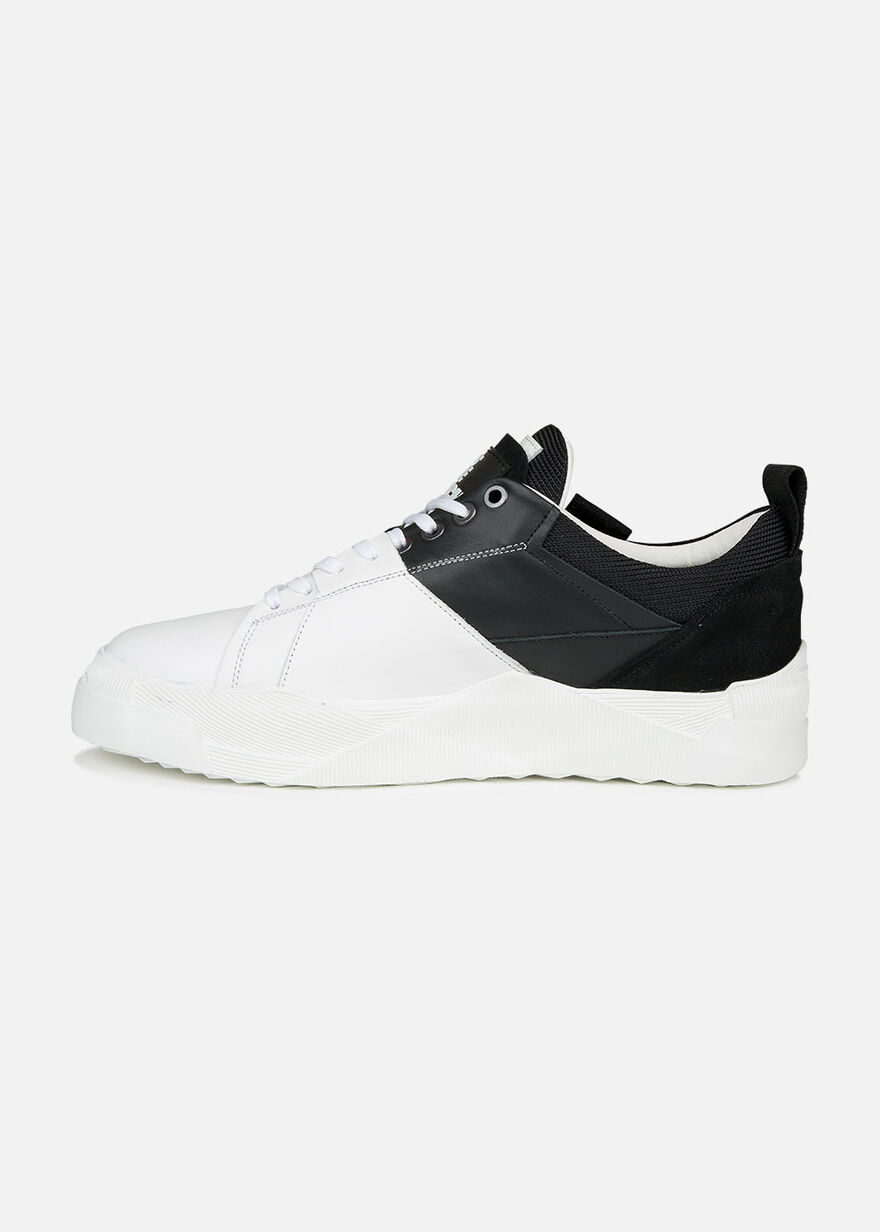 Slice - White/Black - Leather, White/Black, hi-res