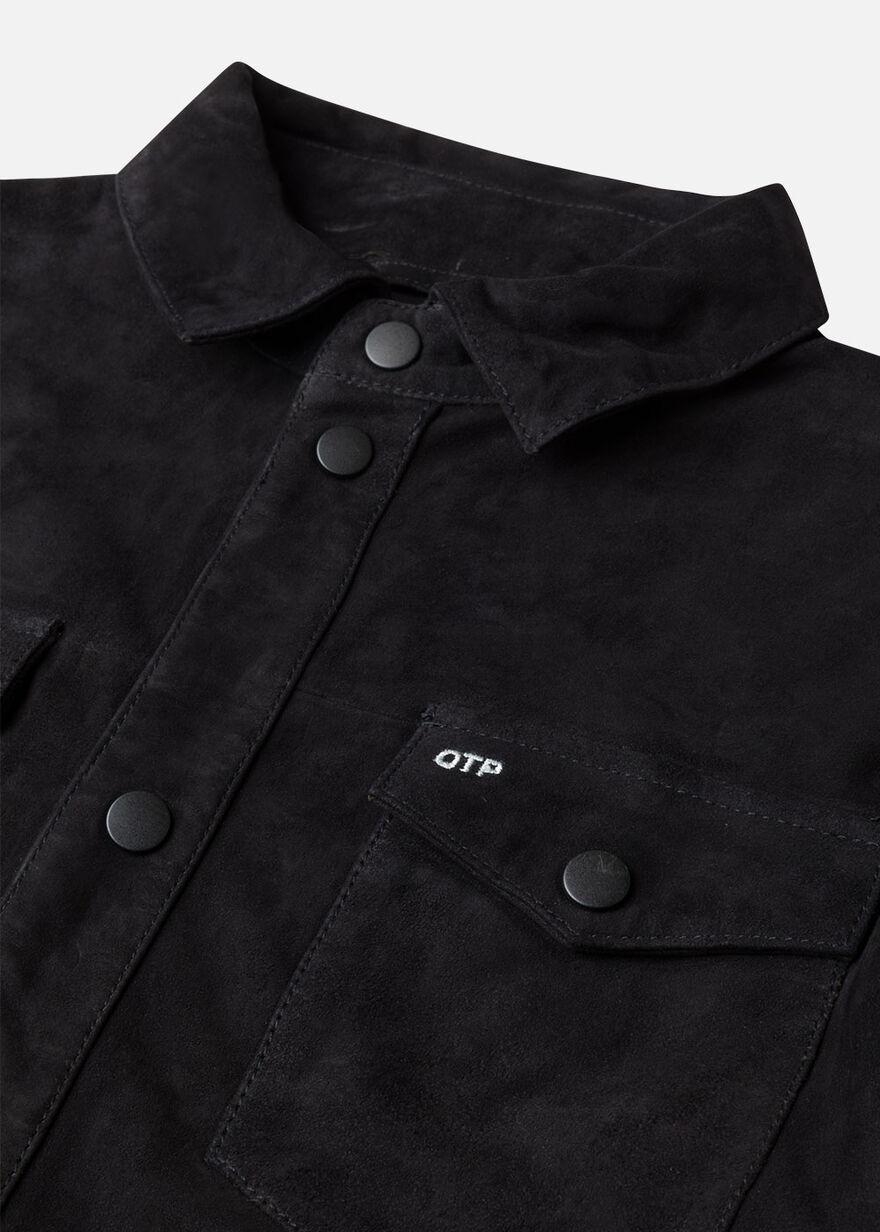 The Suede Overshirt, Black, hi-res